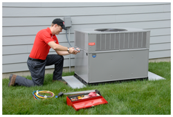 air conditioner repair and maintenance check from technician